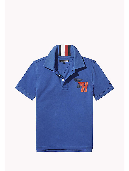 TOMMY HILFIGER Signature Stripe Polo Shirt - NAUTICAL BLUE - TOMMY HILFIGER T-shirts & Polos - main image