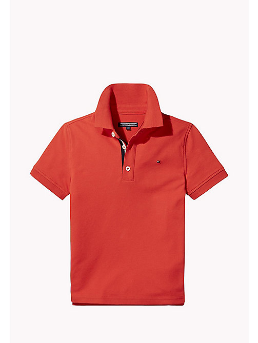 TOMMY HILFIGER Slim Fit Polo - FLAME SCARLET - TOMMY HILFIGER T-shirts & Polos - main image