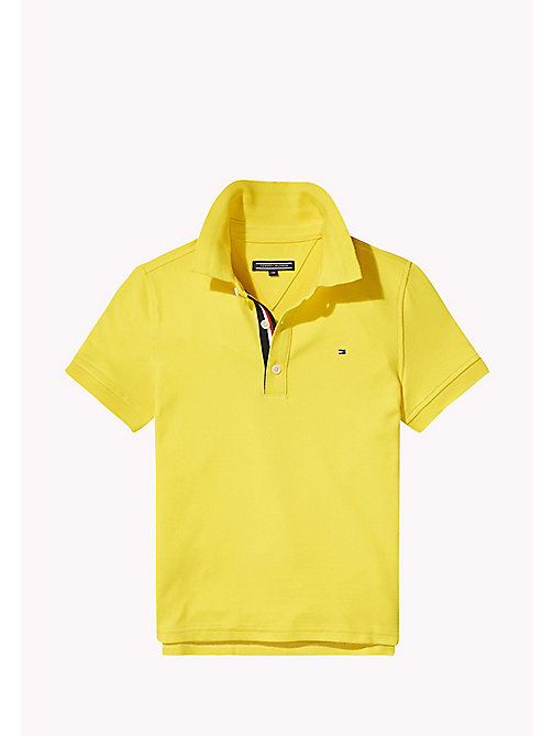 TOMMY HILFIGER Slim fit poloshirt - EMPIRE YELLOW - TOMMY HILFIGER T-shirts & Polo's - main image