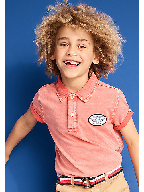 TOMMY HILFIGER Polo con logo vintage - CAYENNE - TOMMY HILFIGER Bambini - immagine principale