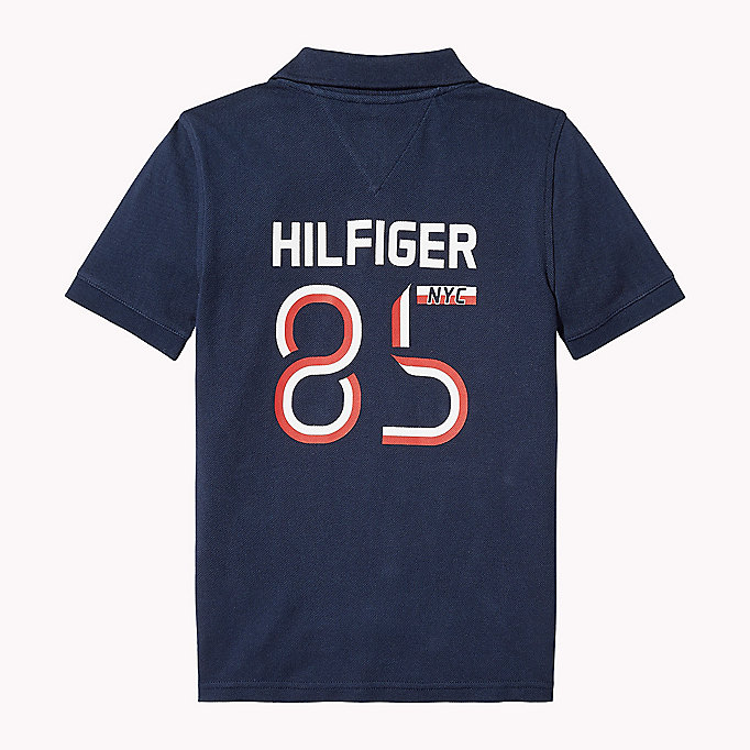 TOMMY HILFIGER Logo Regular Fit Polo - BRIGHT WHITE - TOMMY HILFIGER Kids - detail image 1