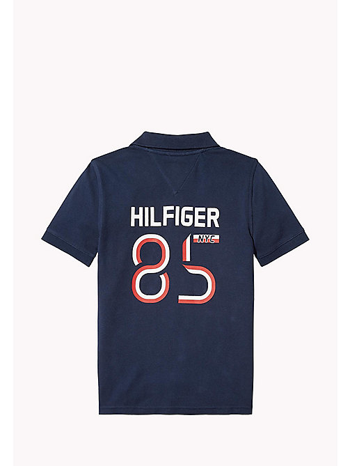 TOMMY HILFIGER Logo Regular Fit Polo - BLACK IRIS - TOMMY HILFIGER T-shirts & Polos - detail image 1