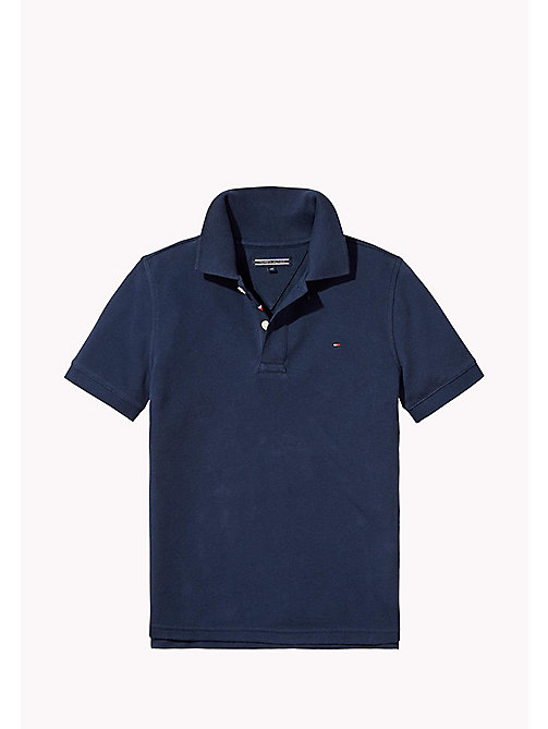 TOMMY HILFIGER Logo Regular Fit Polo - BLACK IRIS - TOMMY HILFIGER T-shirts & Polos - main image