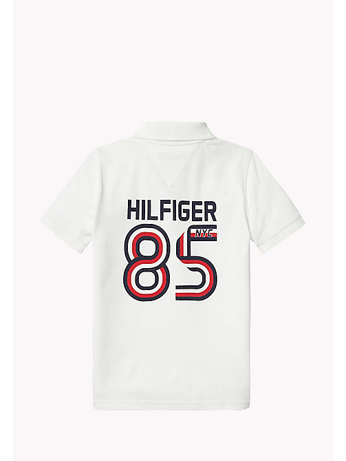 TOMMY HILFIGER Logo Regular Fit Polo - BRIGHT WHITE - TOMMY HILFIGER T-shirts & Polos - image détaillée 1