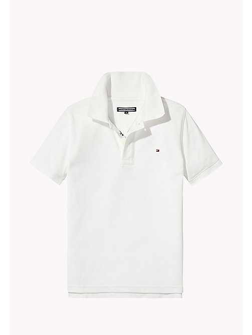 TOMMY HILFIGER Logo Regular Fit Polo - BRIGHT WHITE - TOMMY HILFIGER T-shirts & Polos - image principale