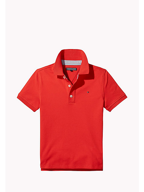 TOMMY HILFIGER Regular Fit Polo - FLAME SCARLET - TOMMY HILFIGER T-shirts & Poloshirts - main image
