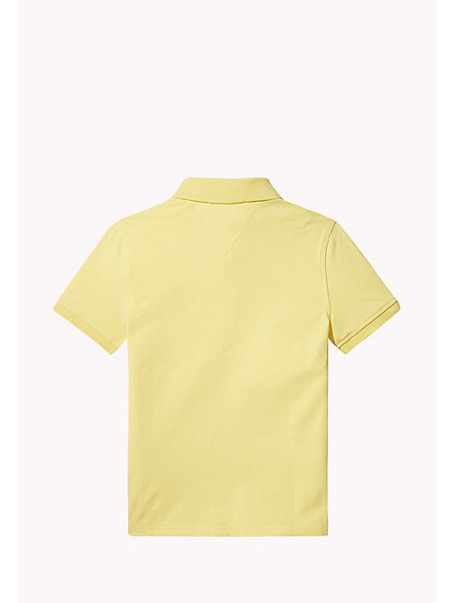 TOMMY HILFIGER Regular Fit Polo - CUSTARD - TOMMY HILFIGER Boys - detail image 1