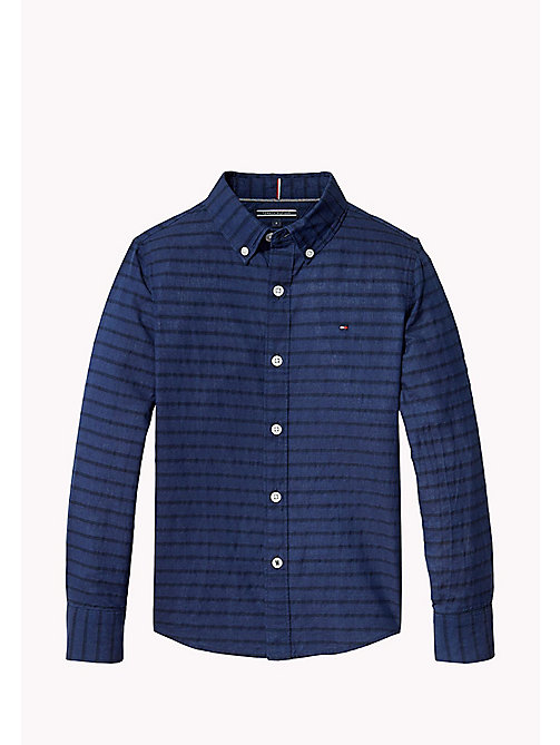 TOMMY HILFIGER Stripe Seersucker Shirt - LIMOGES - TOMMY HILFIGER Boys - main image