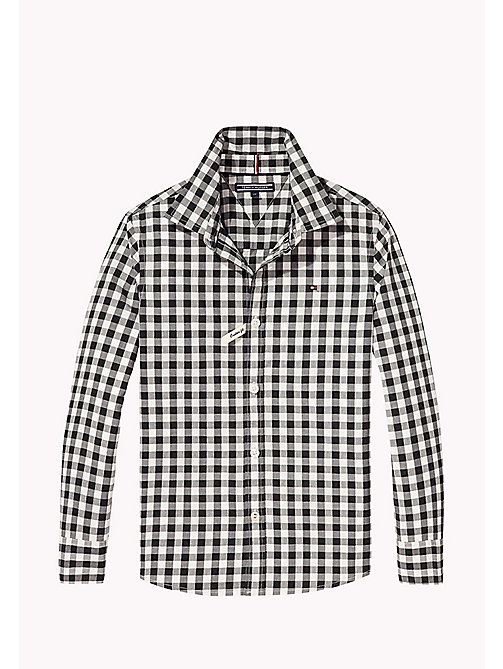 TOMMY HILFIGER Gingham Shirt - TOMMY BLACK - TOMMY HILFIGER Boys - main image
