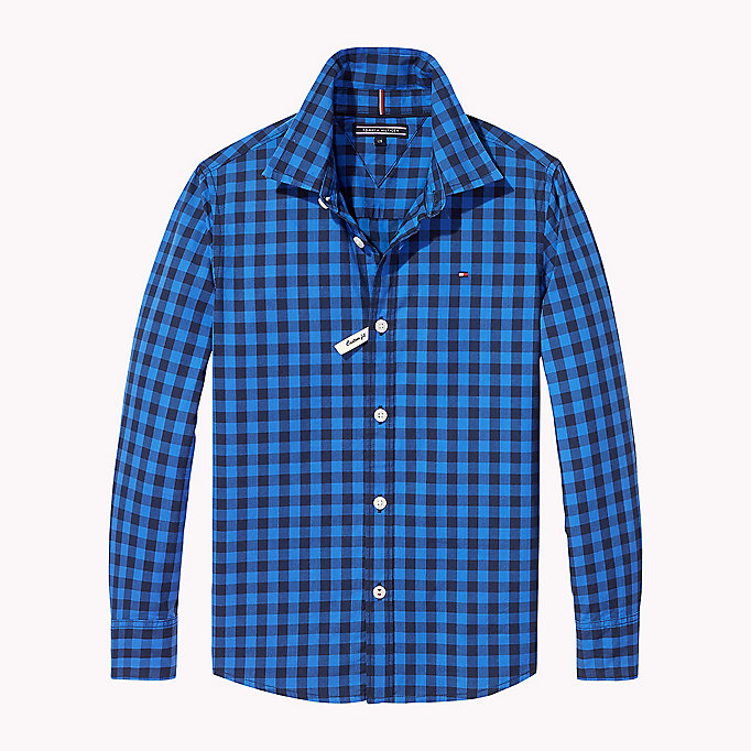TOMMY HILFIGER Gingham Shirt - TOMMY BLACK - TOMMY HILFIGER Kids - main image