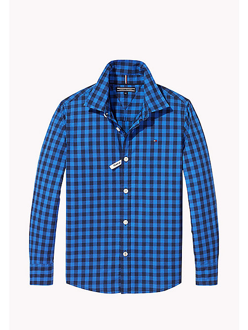 TOMMY HILFIGER Gingham Shirt - NAUTICAL BLUE - TOMMY HILFIGER Boys - main image