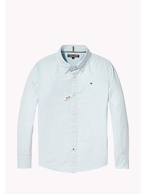 TOMMY HILFIGER Gingham Check Shirt - STRATOSPHERE - TOMMY HILFIGER Boys - main image