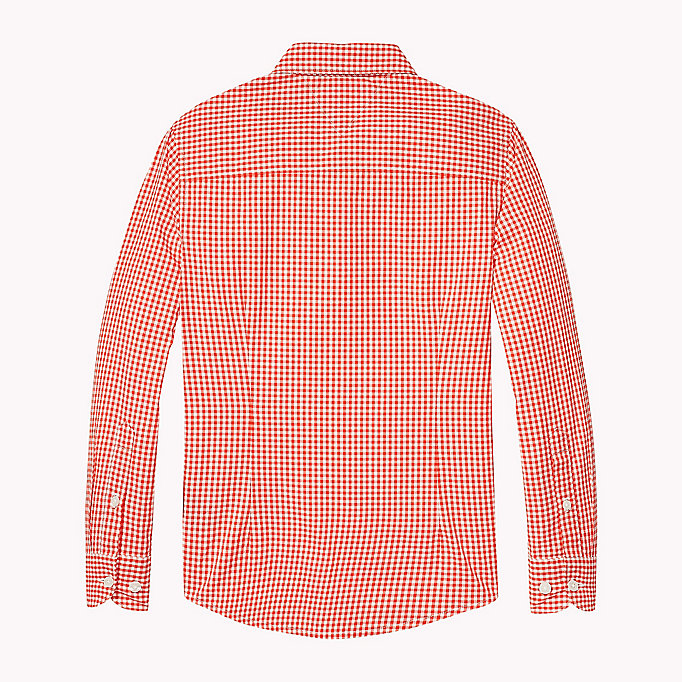 TOMMY HILFIGER Gingham Check Shirt - CUSTARD - TOMMY HILFIGER Kids - detail image 1