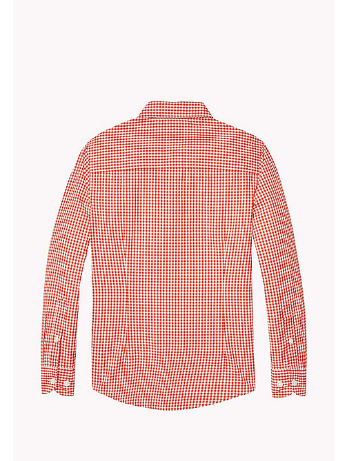 TOMMY HILFIGER Gingham Check Shirt - FLAME SCARLET -  Shirts - detail image 1