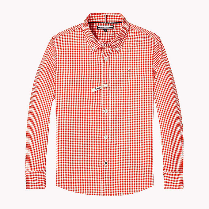 TOMMY HILFIGER Gingham Check Shirt - CUSTARD - TOMMY HILFIGER Kids - main image