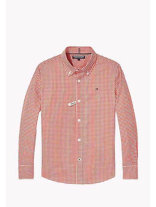 TOMMY HILFIGER Gingham Check Shirt - FLAME SCARLET - TOMMY HILFIGER Boys - main image