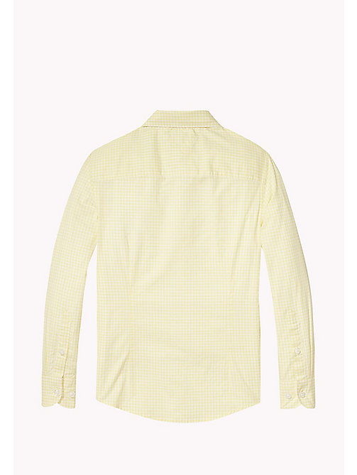 TOMMY HILFIGER Gingham Check Shirt - CUSTARD - TOMMY HILFIGER Boys - detail image 1