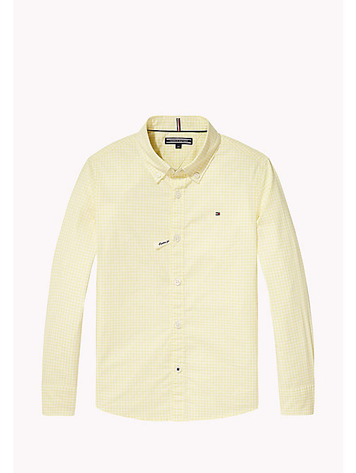TOMMY HILFIGER Gingham Check Shirt - CUSTARD - TOMMY HILFIGER Boys - main image