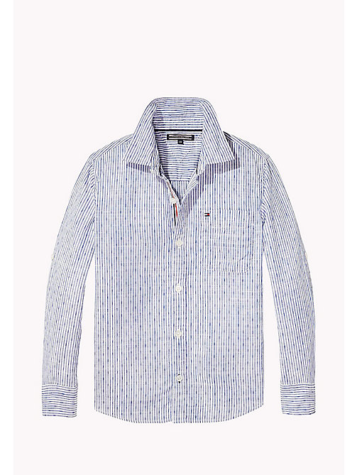 TOMMY HILFIGER Signature Tape Detail Shirt - BRIGHT WHITE - TOMMY HILFIGER Overhemden - main image