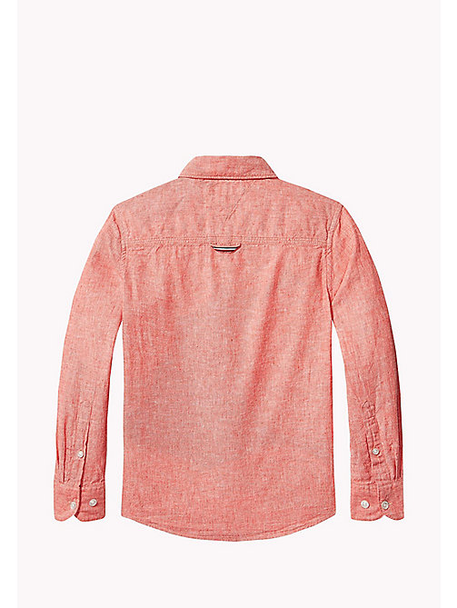TOMMY HILFIGER Cotton Linen Shirt - CAYENNE - TOMMY HILFIGER Shirts - detail image 1