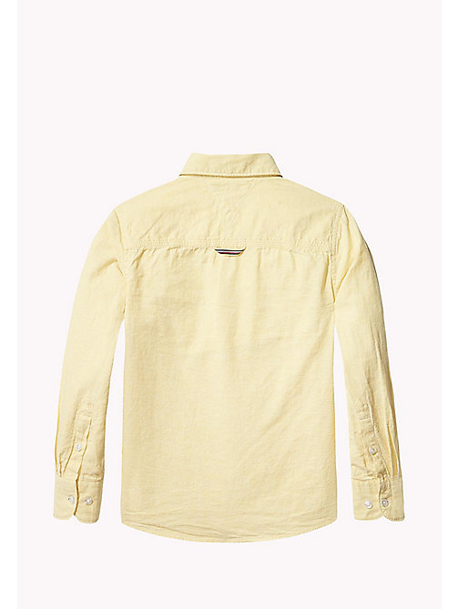 TOMMY HILFIGER Cotton Linen Shirt - CUSTARD - TOMMY HILFIGER Shirts - detail image 1