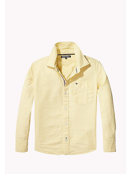 TOMMY HILFIGER Cotton Linen Shirt - CUSTARD - TOMMY HILFIGER Shirts - main image