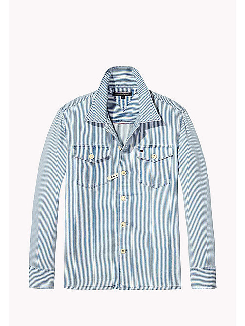 TOMMY HILFIGER Stripe Denim Shirt - INDIGO BLUE - TOMMY HILFIGER Boys - main image