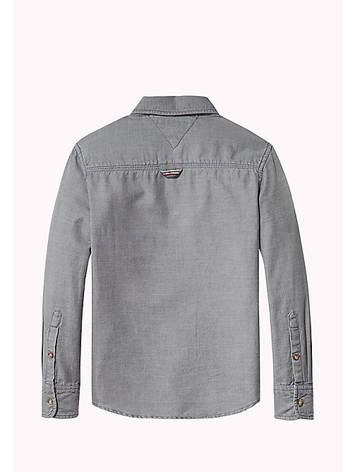 TOMMY HILFIGER Acid Wash Shirt - GREY HEATHER -  Shirts - detail image 1