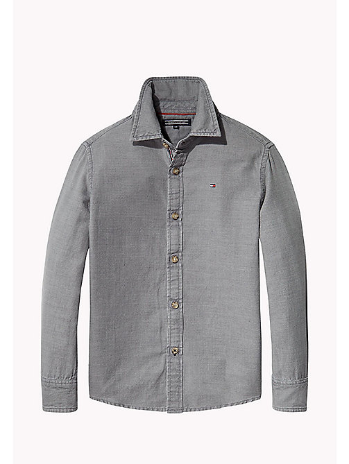 TOMMY HILFIGER Chemise acid wash - GREY HEATHER - TOMMY HILFIGER Chemises - image principale