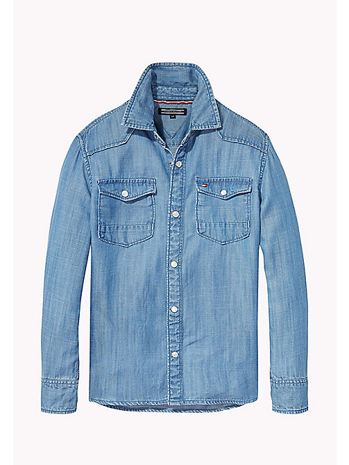TOMMY HILFIGER Indigo Denim Shirt - INDIGO BLUE - TOMMY HILFIGER Boys - main image