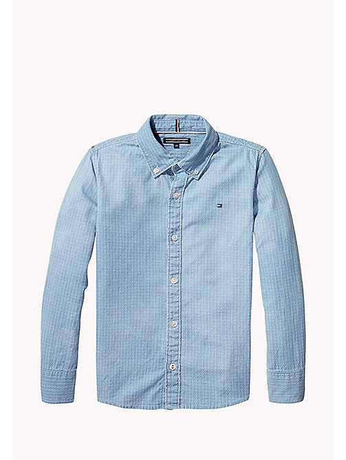 TOMMY HILFIGER Windowpane Check Denim Shirt - STRATOSPHERE - TOMMY HILFIGER Boys - detail image 1