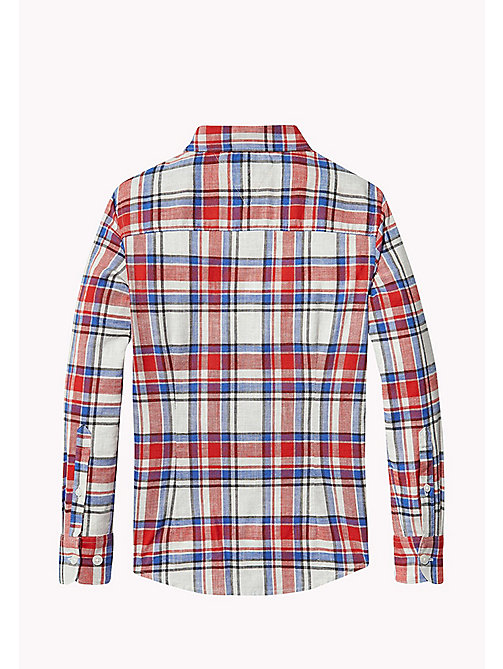 TOMMY HILFIGER Check Shirt - RACING RED - TOMMY HILFIGER Boys - detail image 1