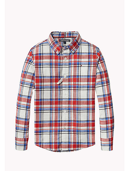 TOMMY HILFIGER Check Shirt - RACING RED - TOMMY HILFIGER Boys - main image