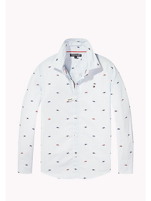 TOMMY HILFIGER Motorbike Print Shirt - NAUTICAL BLUE - TOMMY HILFIGER Shirts - main image