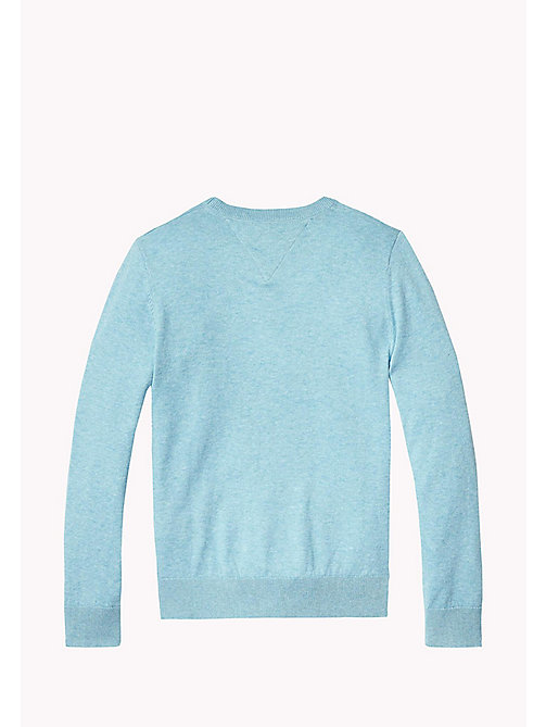 TOMMY HILFIGER Crew Neck Jumper - STRATOSPHERE HEATHER - TOMMY HILFIGER Jumpers & Cardigans - detail image 1