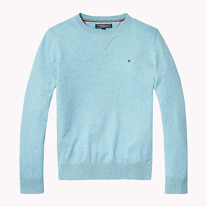 TOMMY HILFIGER Crew Neck Jumper - CAYENNE HEATHER - TOMMY HILFIGER Kids - main image