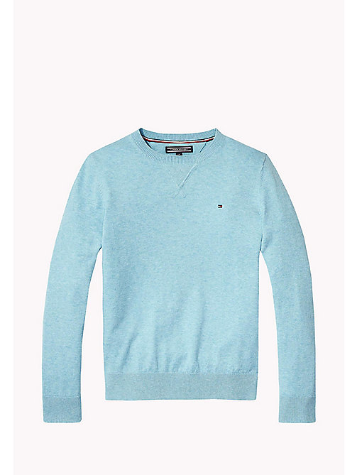 TOMMY HILFIGER Crew Neck Jumper - STRATOSPHERE HEATHER - TOMMY HILFIGER Jumpers & Cardigans - main image