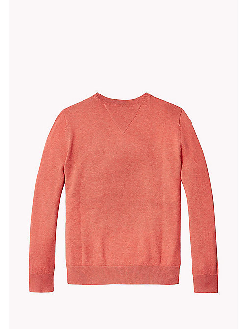 TOMMY HILFIGER Crew Neck Jumper - CAYENNE HEATHER - TOMMY HILFIGER Boys - detail image 1