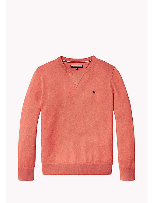 TOMMY HILFIGER Crew Neck Jumper - CAYENNE HEATHER - TOMMY HILFIGER Boys - main image