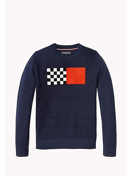 TOMMY HILFIGER Racing Patch Jumper - BLACK IRIS - TOMMY HILFIGER Jumpers & Cardigans - detail image 1