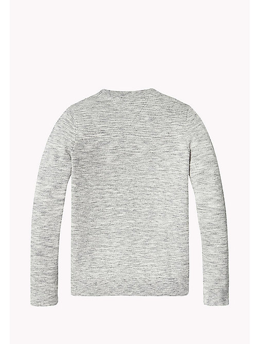 TOMMY HILFIGER Racing Patch Jumper - MODERN GREY HEATHER - TOMMY HILFIGER Jumpers & Cardigans - detail image 1