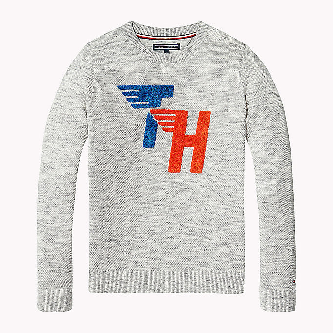 TOMMY HILFIGER Racing Patch Jumper - BLACK IRIS - TOMMY HILFIGER Kids - main image