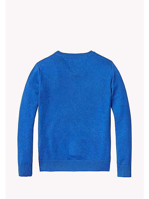 TOMMY HILFIGER Pullover con scollo a V - NAUTICAL BLUE HEATHER - TOMMY HILFIGER Maglieria - dettaglio immagine 1