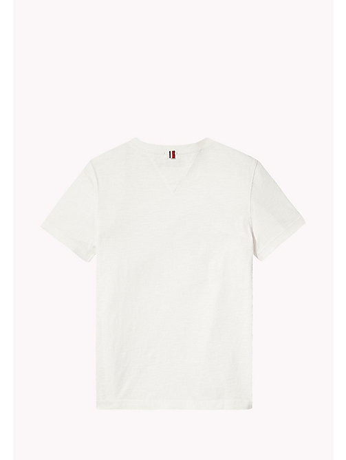 TOMMY HILFIGER Textured Tommy Jeans Logo T-Shirt - BRIGHT WHITE - TOMMY HILFIGER T-shirts & Polos - detail image 1