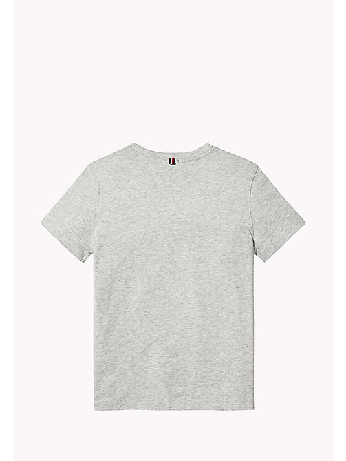 TOMMY HILFIGER T-shirt con logo - LIGHT GREY HTR - TOMMY HILFIGER T-shirts & Polo - dettaglio immagine 1