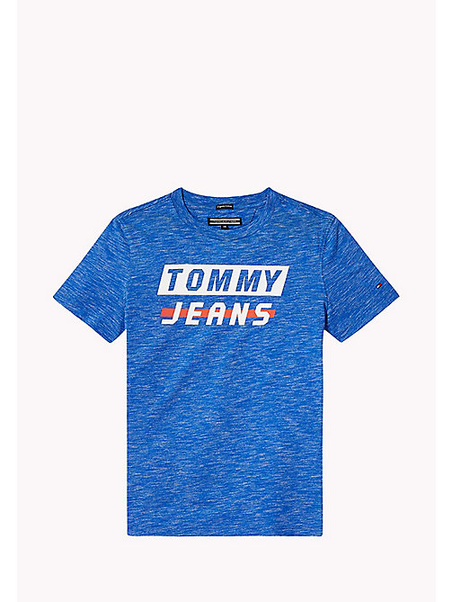 TOMMY HILFIGER Logo T-Shirt - NAUTICAL BLUE HEATHER - TOMMY HILFIGER T-shirts & Polos - main image