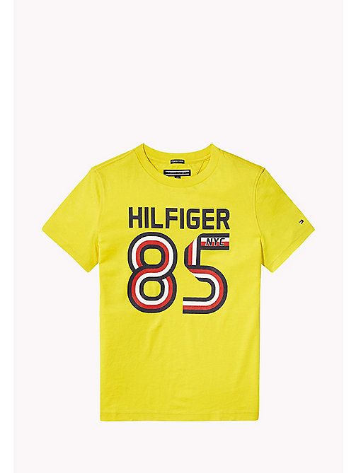 TOMMY HILFIGER T-shirt met logo - EMPIRE YELLOW - TOMMY HILFIGER T-shirts & Polo's - main image