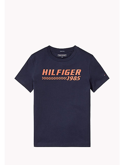 TOMMY HILFIGER T-shirt con logo - BLACK IRIS - TOMMY HILFIGER T-shirts & Polo - immagine principale