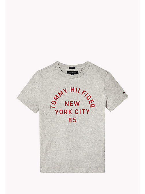 TOMMY HILFIGER T-shirt met logo - LIGHT GREY HTR - TOMMY HILFIGER T-shirts & Polo's - main image