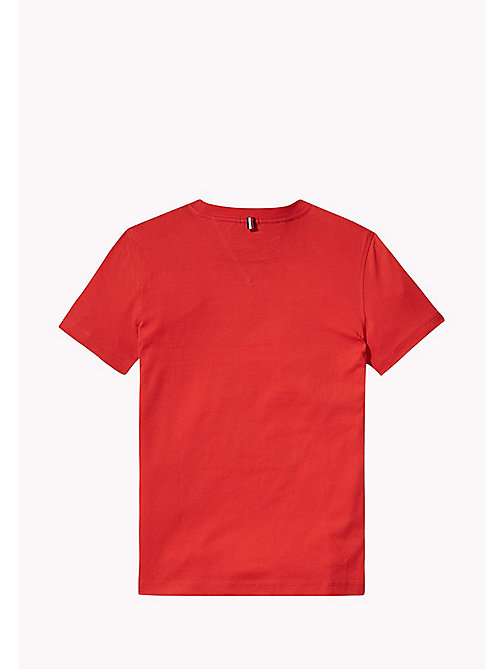 TOMMY HILFIGER Logo T-Shirt - FLAME SCARLET - TOMMY HILFIGER T-shirts & Polos - detail image 1